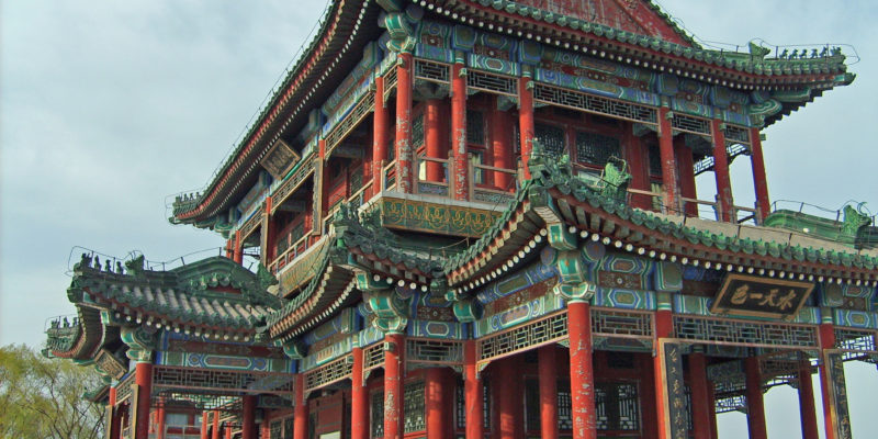 An ornate Chinese shrine